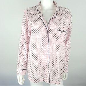 Victorias Secret Large Button Down Pajama PJ Top